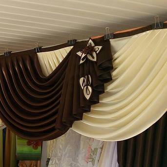 Пошив ламбрекена из портьерной ткани ( Хмельницкий ) 1