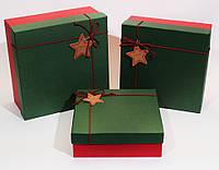 Новогодняя подарочная коробка набор 3 шт.