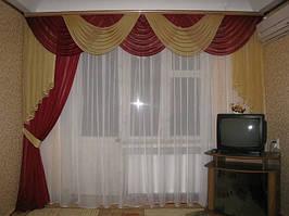Ламбрекен со шторами для зала и гостиной.