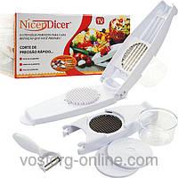 Овощерезки, яйцерезки. Овощерезка Nicer dicer + плододержатель. Терки, овощерезки. Для кухни. Готовим быстро