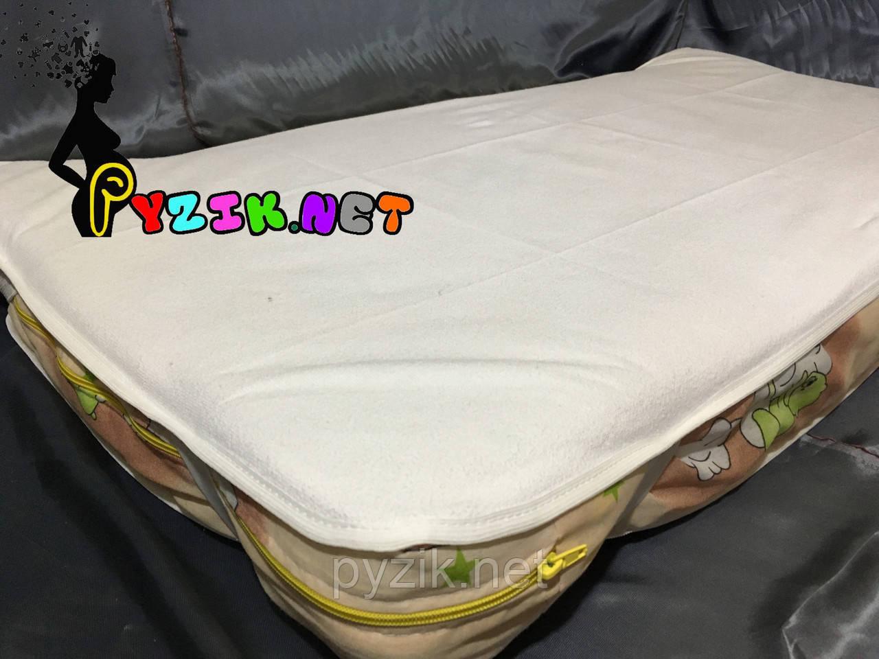 Наматрасник непромокаемый 120х60 см, резинка по углам белый