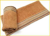 Махровое полотенце 70х130 Arya Gizem медное