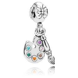 Шарм-подвеска «Палитра» художника из серебра 925 пробы в стиле Pandora
