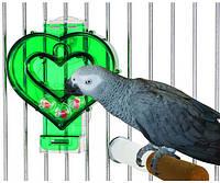 """Фуражная игрушка для попугая """" Зеленое сердце"""""""