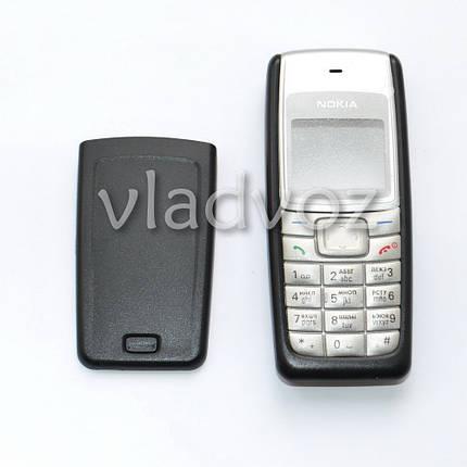 Корпус для Nokia 1110, 1110i, 1112 чёрный с клавиатурой class AAA, фото 2