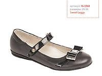 Туфли школьные Lapsi Лапси 16-1264 черные для девочек, фото 1