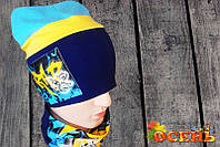 Комплекты детские шапка + хомут оптом  продажа f86b48876eda1