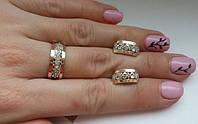 Комплект украшений серебра с золотом и камнями