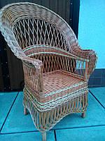 "Кресло из лозы ""Капля Ажур"""