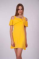 Жіночий сарафан 17524-2 жовтий ( Женский сарафан 17524-2 желтый)