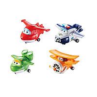 Супер крылья - Джетт и его друзья - Самолеты-трансфор Super Wings - Transform-A-Bots 4 Pack - Jett, Mira, Paul