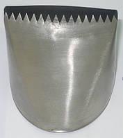 Наконечник кондитерский: для бортиков, краев, плетения, h=54 мм, шир. рисунка 57 мм 4030084/790
