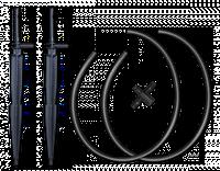 Две прямые прикорневые капельницы, адаптер-двойник