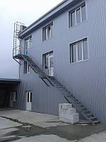 Пожарная лестница наружная 2-х маршевая