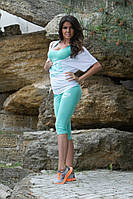 Спортивный костюм женский Nike, 4 цвета (капри, майка борцовка и футболка), фото 1