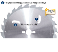 Пильный диск для раскроя древисины ф=450x 4,2/2,8x 30mm 40 WZ+R,Karnasch (Германия)