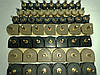 Набойки полиуретановые женские со штырьком полукруглые 8*8,5мм.  ArchiTAK (АРЧИТАК) Италия, черн.