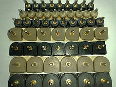 Набойки полиуретановые женские со штырьком полукруглые 13*13,5мм.  ArchiTAK (АРЧИТАК) Италия, черн.