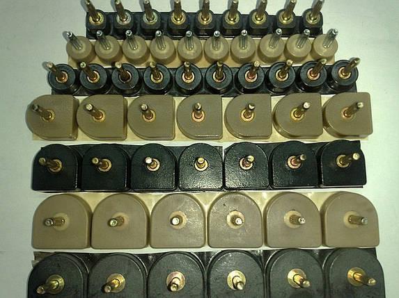 Набойки полиуретановые женские со штырьком полукруглые 15*16мм.  ArchiTAK (АРЧИТАК) Италия, черн., фото 2