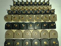 Набойки полиуретановые женские со штырьком полукруглые 15*16мм.  ArchiTAK (АРЧИТАК) Италия, черн.