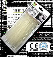 Стяжки кабельные пластиковые белые Neutral 2,5*80 мм