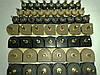 Набойки полиуретановые женские со штырьком полукруглые 21*21мм.  ArchiTAK (АРЧИТАК) Италия, черн.