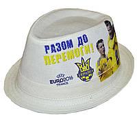 Шляпа челентанка льняная Евро 2016