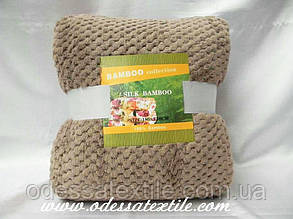 Плед Koloco Silk Bamboo коричневий
