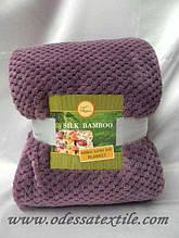 Плед Koloco Silk Bamboo фіолетовий