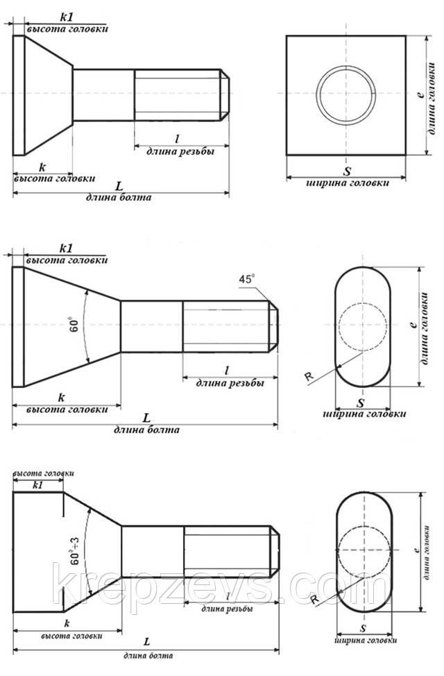 чертеж болт футеровочный м24