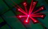 Световой LED прибор New Light M-J8-50R Red 8-light Laser Scan, 800mw