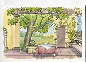 дизайн интерьера — роспись стен