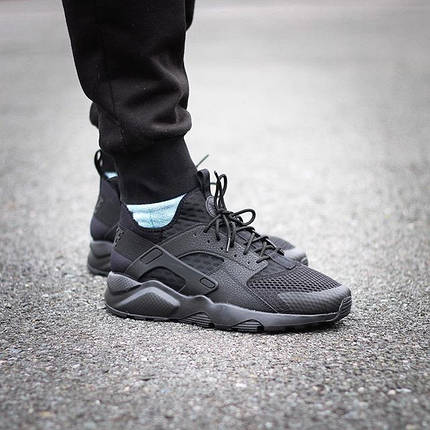 Кроссовки Nike Huarache Run Ultra Breeze (All Black), фото 2