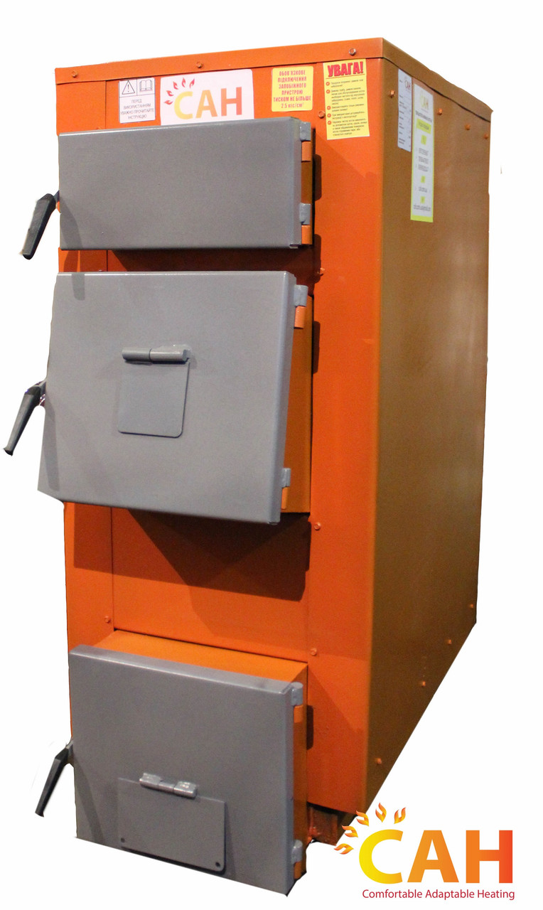 Твердотопливный котел с механической автоматикой САН Эко-У-М 17 (Усиленный сталь 4мм)