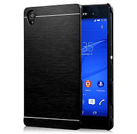 Чехол металлический Motomo Satin Series Metal + PC для Sony Xperia Z1 C6902 L39H Black