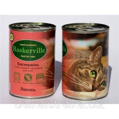 Консервы Баскервиль для кошек, лосось, 400 г Bas004