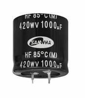 220uF 200V HE 22x25mm (HE2D227M22025HA159-Samwha) (электролитический конденсатор)