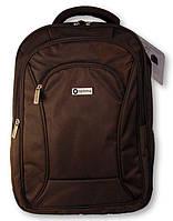 """Интересный городской рюкзак для подростков с отделением для ноута OPTIMA 18"""" O97363 черный шоколад"""