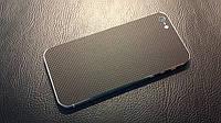 Декоративна захисна плівка для Iphone 5,мікро чорний карбон, фото 1