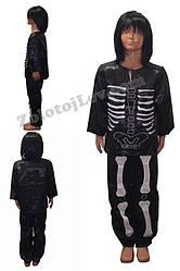 Дитячий костюм Скелет зростання 122