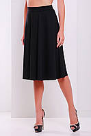 Женская юбка черного цвета из французского трикотажа , фото 1
