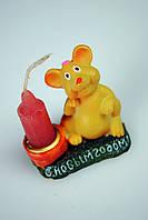 Сувенирная статуэтка со свечей Мышка
