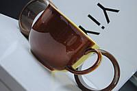 Чашка керамическая Аппетитка, желто-коричневая
