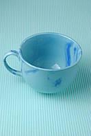 Чашка керамическая аппетитка Радуга, голубая