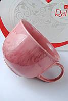 Чашка керамическая аппетитка Радуга, розовая