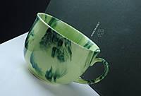 Чашка керамическая аппетитка Радуга, зеленая