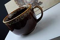 Чашка керамическая Аппетитка, коричневая пена