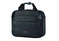 """Презентабельная мужская сумка для ноутбука 37*29*7 см. диагональю 17"""" CABINET O97277 черный"""