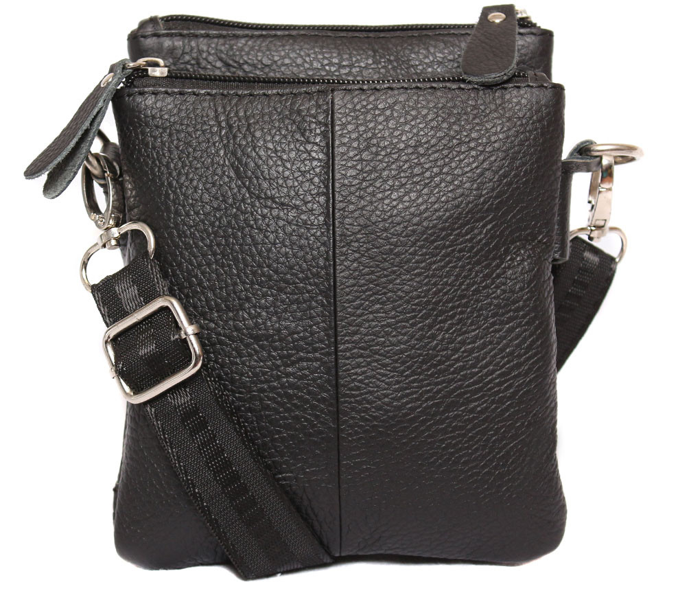 Мужская кожаная сумка 300141 черная