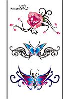 Временное тату узоры «Flower»